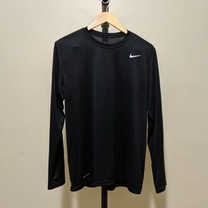 Nike Dri-Fit Long Sleeve Shirt Black